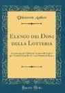 Unknown Author - Elenco dei Doni della Lotteria