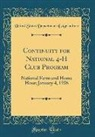 United States Department Of Agriculture - Continuity for National 4-H Club Program: National Farm and Home Hour; January 4, 1936 (Classic Reprint)
