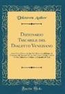 Unknown Author - Dizionario Tascabile del Dialetto Veneziano