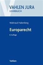 Waltraud Hakenberg, Waltraud (Dr.) Hakenberg - Europarecht