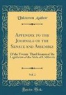 Unknown Author - Appendix to the Journals of the Senate and Assembly, Vol. 2