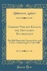 Unknown Author - Gesammt-Verlags-Katalog des Deutschen Buchhandels