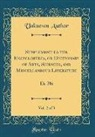Unknown Author - Supplement to the Encyclopedia, or Dictionary of Arts, Sciences, and Miscellaneous Literature, Vol. 2 of 3