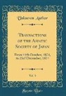Unknown Author - Transactions of the Asiatic Society of Japan, Vol. 3