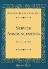 United States Department Of Agriculture - Service Announcements: October 15, 1913 (Classic Reprint)