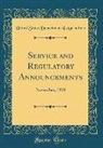 United States Department Of Agriculture - Service and Regulatory Announcements: November, 1938 (Classic Reprint)