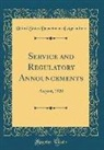 United States Department Of Agriculture - Service and Regulatory Announcements: August, 1920 (Classic Reprint)