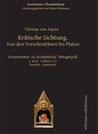 Thomas von Aquin, Thomas Von Aquin, Thomas von Aquin, Klaus Obenauer - Kritische Sichtung. Von den Vorsokratikern bis Platon