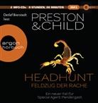 Lincoln Child, Douglas Preston, Detlef Bierstedt - Headhunt - Feldzug der Rache, 2 Audio-CD, (Hörbuch)