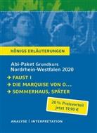 Johann Wolfgang vo Goethe, He, Judith Hermann, Heinrch vo Kleist, Heinrch von Kleist, Heinrich von Kleist... - Abi-Paket Grundkurs Nordrhein-Westfalen 2020 - Königs Erläuterungen, 3 Bde.