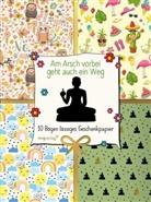 Alexandra Reinwarth - Am Arsch vorbei geht auch ein Weg, 10 Bögen lässiges Geschenkpapier