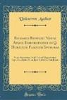 Unknown Author - Richardi Bentleii Notae Atque Emendationes in Q. Horatium Flaccum Integrae