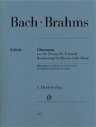 Johann Sebastian Bach, Johannes Brahms, linke Hand Klavier, Valerie Woodring Goertzen - Brahms, Johannes - Chaconne aus der Partita Nr. 2 d-moll (Johann Sebastian Bach), Bearbeitung für Klavier, linke Hand