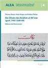 Thomas Bauer, Ank Osigus, Anke Osigus, Hakan Özkan - Der Diwan des Ibrahim al-Mi'mar (gest. 749/1348-49)