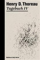 Henry D. Thoreau, Walter Zimmermann, Rainer G. Schmidt - Tagebuch. .4