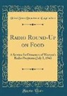 United States Department Of Agriculture - Radio Round-Up on Food
