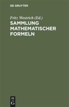 Frit Westrich, Fritz Westrich - Sammlung mathematischer Formeln
