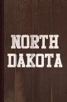 Flippin Sweet Books - North Dakota Journal Notebook: Blank Lined Ruled for Writing 6x9 110 Pages