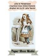 Paper Moon Media Cross Stitch, John Tenniel - Alice in Wonderland Counted Cross Stitch Pattern: Alice Drink Me