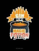 Engy Publishing - Gin Is My Magic Potion: Unruled Composition Book