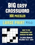 James Manning - Big Easy Crossword (Vols 1 & 2): Large print game book with 100 crossword puzzles: One crossword game per two pages: All crossword puzzles come with s