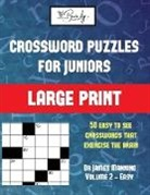 James Manning - Crossword Puzzles for Juniors (Vol 1): Large print game book with 50 crossword puzzles: One crossword game per two pages: All crossword puzzles come w