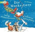 Ute Krause, Andreas Fröhlich, Ute Krause - Die Muskeltiere und das Weihnachtswunder, 3 Audio-CDs (Hörbuch)