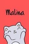Kreativ Malbuch - Malina: Din A5 - Blanko 110 Seiten - Mein Malbuch - Personalisierter Kalender - Vornamen - Schönes Notizbuch - Notizblock Rot
