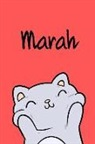 Kreativ Malbuch - Marah: Din A5 - 110 Blanko Seiten - Mein Malbuch - Personalisierter Kalender - Vornamen - Schönes Notizbuch - Notizblock Rot