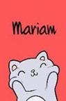 Kreativ Malbuch - Mariam: Din A5 - Blanko 110 Seiten - Mein Malbuch - Personalisierter Kalender - Vornamen - Schönes Notizbuch - Notizblock Rot