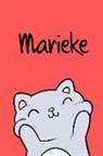 Kreativ Malbuch - Marieke: Din A5 - Blanko 110 Seiten - Mein Malbuch - Personalisierter Kalender - Vornamen - Schönes Notizbuch - Notizblock Rot