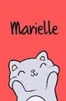 Kreativ Malbuch - Marielle: Din A5 - 110 Seiten Blanko - Mein Malbuch - Personalisierter Kalender - Vornamen - Schönes Notizbuch - Notizblock Rot