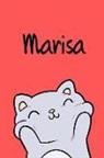 Kreativ Malbuch - Marisa: Din A5 - 110 Seiten Blanko - Mein Malbuch - Personalisierter Kalender - Vornamen - Schönes Notizbuch - Notizblock Rot