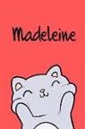 Kreativ Malbuch - Madeleine: Din A5 - 110 Blanko Seiten - Mein Malbuch - Personalisierter Kalender - Vornamen - Schönes Notizbuch - Notizblock Rot