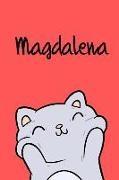 Kreativ Malbuch - Magdalena: Din A5 - 110 Seiten Blanko - Mein Malbuch - Personalisierter Kalender - Vornamen - Schönes Notizbuch - Notizblock Rot