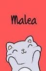 Kreativ Malbuch - Malea: Din A5 - 110 Blanko Seiten - Mein Malbuch - Personalisierter Kalender - Vornamen - Schönes Notizbuch - Notizblock Rot