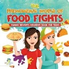 Educando Kids - The Phenomenal World of Food Fights | Yummy Delights Coloring Book for Teens