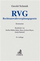 Wilhel Gerold, Wilhelm Gerold, Herbert Schmidt, Detlef Burhoff, Hans-Joche Mayer - Rechtsanwaltsvergütungsgesetz (RVG), Kommentar