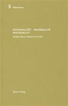 Heinz Wirz - Materialität / Matérialité / Materiality