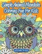 Activibooks For Kids - Simple Animal Mandala Coloring Fun For Kids