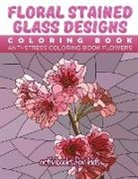 Activibooks For Kids - Floral Stained Glass Designs Coloring Book