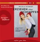 Nicola Schmidt, Nicola Schmidt, Nina West - Erziehen ohne Schimpfen, 1 Audio-CD, MP3 (Hörbuch)