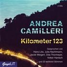 Andrea Camilleri, Volker Hanisch, Hans Löw, Oda Thormeyer, ... und viele mehr, Jacob Weigert - Kilometer 123, 2 Audio-CD (Hörbuch)