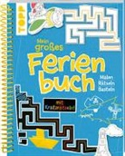 frechverlag - Mein großes Ferienbuch mit Kratzrätseln! (Blau)