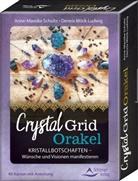 Dennis Möck-Ludwig, Anne-Mareik Schultz, Anne-Mareike Schultz - Crystal Grid Orakel, 40 Karten mit Anleitung