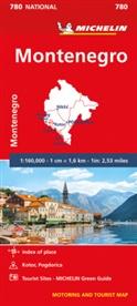 MICHELI, Michelin - MONTENEGRO - Michelin National Map 780