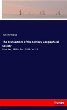 Anonymous - The Transactions of the Bombay Geographical Society