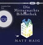 Matt Haig, Annette Frier - Die Mitternachtsbibliothek, 1 Audio-CD, MP3 (Hörbuch)