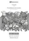 Babadada GmbH - BABADADA black-and-white, Tajik (in cyrillic script) - Plattdüütsch (Holstein), visual dictionary (in cyrillic script) - Bildwöörbook