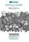 Babadada Gmbh - BABADADA black-and-white, Schwiizerdütsch mit Artikeln - Bahasa Indonesia, s Bildwörterbuech - kamus gambar